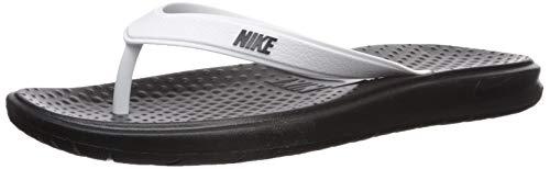 Nike Men's Solay Thong Sandal, White/Black, 10 Regular US ()