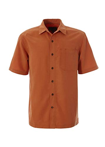 Royal Robbins 71200 Men's Desert Pucker Dry Short Sleeve Shirt, Sunset - X-Large