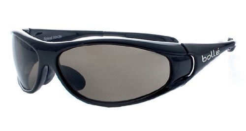 Bolle Sport Spiral Sunglasses (Shiny Black/TNS) by Bolle