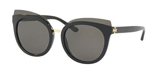 Tory Burch Women's 0TY9049 53mm Black/Dark Brown Gradient - Tory Case Sunglasses Burch