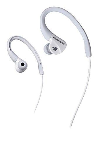 Pioneer IRONMAN Sweat-Resistant Sports Earphones, White SE-E