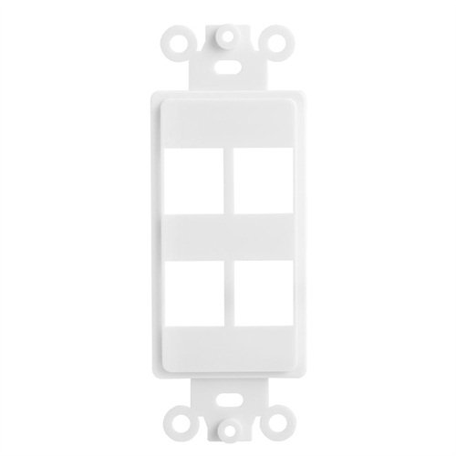 CLASSYTEK White Decora Style Keystone Insert - 4 Port
