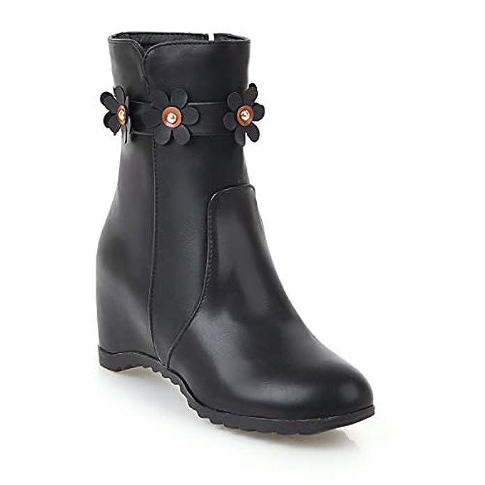 Women's Boots Stivaletti Corti Da Donna Con Punta Arrotondata Interna