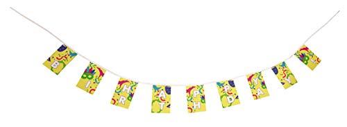 Mardi Gras Pennant Banner - Mardi Gras Themed Fiesta Flags Pennant Banner 10 Feet Long 9 Mini Flags Made of Polyester Cloth Birthday Party Decorations Bunting For Boys Girls