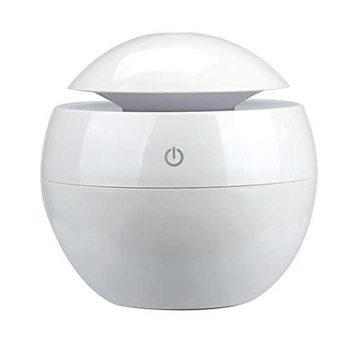 DEESEE(TM) LED Aroma Ultrasonic Humidifier USB Essential Oil Diffuser Air Purifier (White)