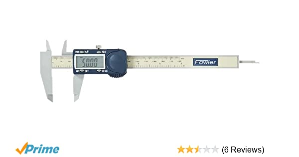 """Fowler 54-101-175 Polycarbonate Frame Poly-Cal Electronic Caliper 6/"""" Max.. New"""