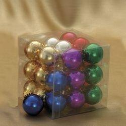 25 Mm Glass Multi Shiny Ball Christmas Ornaments