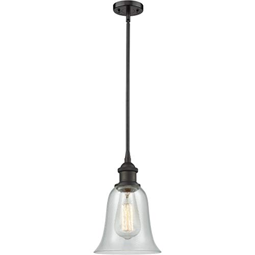 Pendants 1 Light Fixtures with Oil Rubbed Bronze Finish Cast Brass Glass Material Medium 6