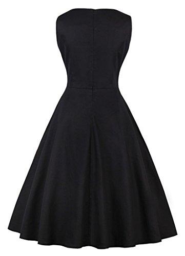Dress Black Floral Organza Sleeveless Women's Flamingo Killreal Cocktail Homecoming Vintage tOw0qqx8