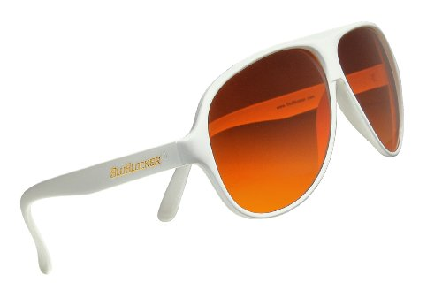 Official BluBlocker White Aviator - Sunglasses Old School Aviator