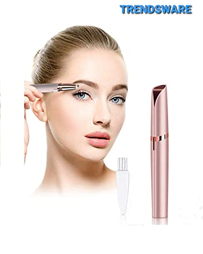TRENDSWAREEyebrow Hair Remover, Face, Lips, Nose Hair Removal Trimmer with Led Light for Women's (white)