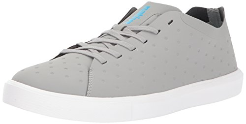 Monaco Moc (Native Men's Monaco Low Ct Fashion Sneaker, Pigeon Grey CT/Shell White, 10 M US)
