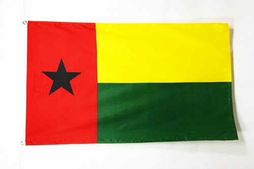 Bissau-Guinean Flags 90 x 150 cm Guinea-Bissau Flag 3 x 5 Banner 3x5 ft Drapeau Guin/ée-Bissau AZ FLAG