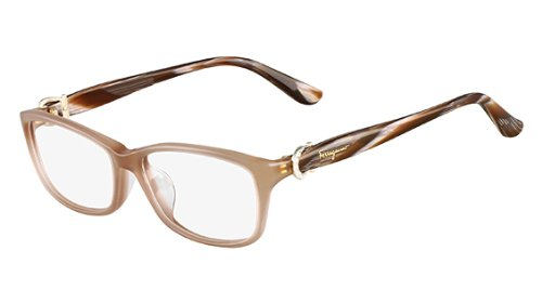 Amazon.com: Salvatore Ferragamo Eyeglasses SF 2629R Crystal Pink 664 ...