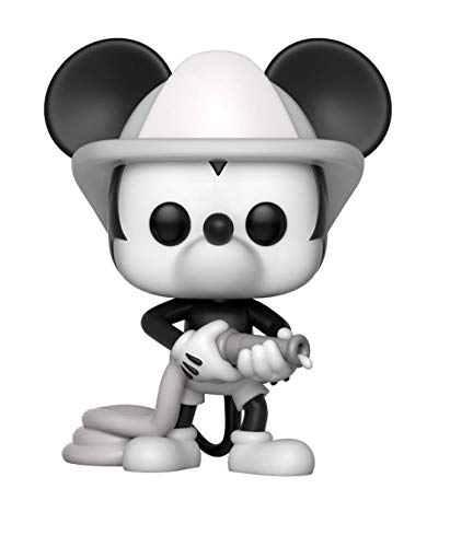 Funko Pop Disney: Mickey's 90Th - Firefighter Mickey Collectible Figure, Multicolor