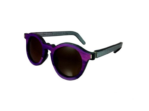 Alvaro Planchart Unisex York Purple Mist Grey Sunglasses 45 - York Hinge