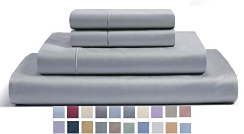 CHATEAU HOME COLLECTION 800-Thread-Count Egyptian Cotton Deep Pocket Sateen Weave King Sheet Set