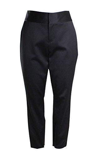 alice + olivia Cadence Wool Zip Cuff Slim Trousers Pants in Black Size 6 -