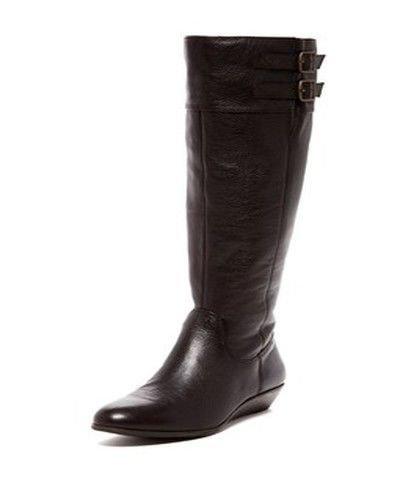 Arturo Chiang Women's Talisw Dark Brown Leather Wedge Boo...