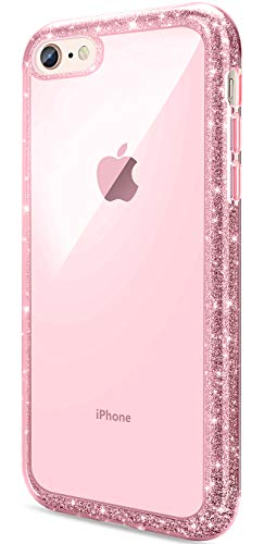 - iPhone 8 Case, Daupin Cute Bling Glitter iPhone 7 Case Luxury Cool Sparkle Colorful Slim iPhone 8 Protective Phone Case for Women Girls (Pink)