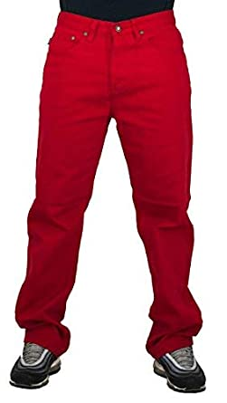 6bf73d06 Mens red Jeans, Peviani g Urban Denim Comfort Trousers, Straight Star wash  Pants