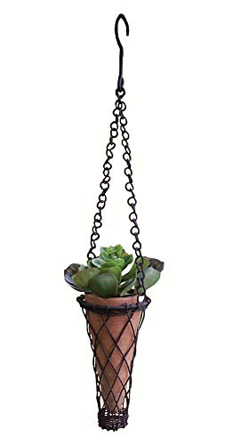 Tall, Narrow and Small Hanging Terra Cotta Pots (set of 2)