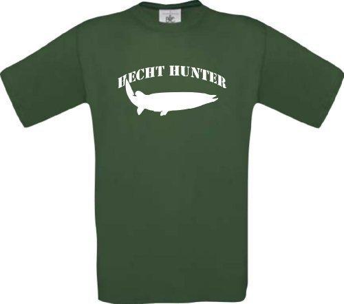 T-Shirt Angeln Fischen Fischer Hecht Hunter Kultstyle S-XXL