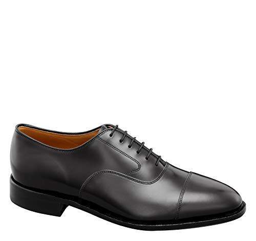Johnston & Murphy Men's Melton Cap Toe Shoe Black Calfskin 10 D -