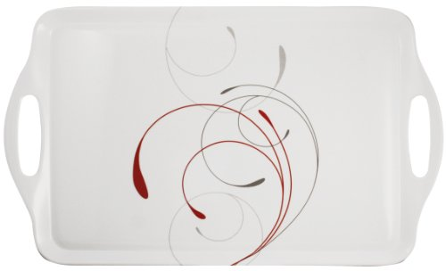 Corelle Coordinates by Reston Lloyd Melamine Rectangular Serving Tray with Handles, Splendor