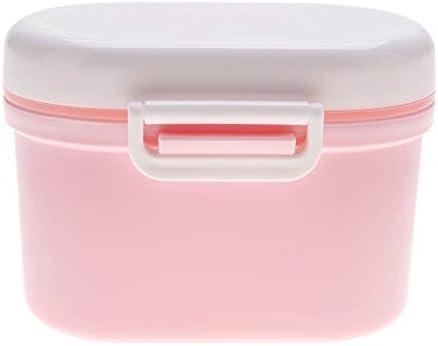 Dosificador de leche en polvo port/átil recipiente de comida para beb/és rosa rosa