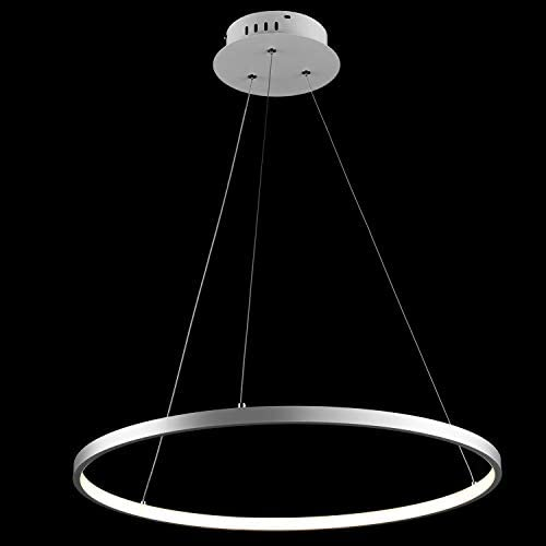 LightInTheBox LED Dimmable Pendent Lights 1 Ring Circular Chandeliers Ceiling Acrylic Light Lighting Fixture LED Light Source Included 30W 2400LM White