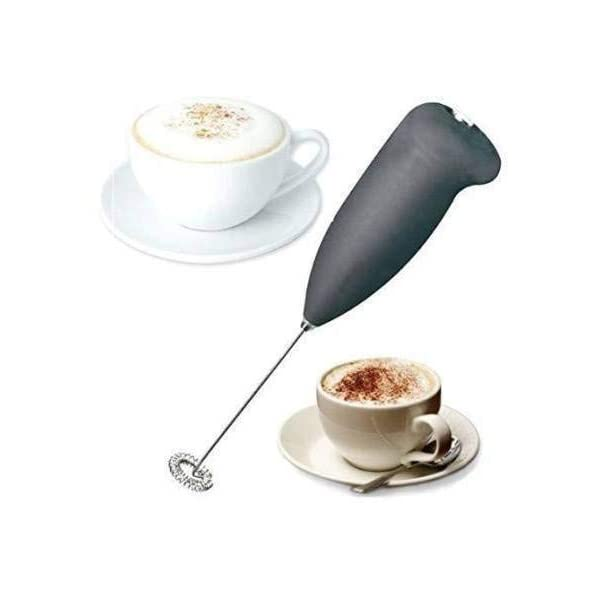 COLLAPSIBLE Electric Handheld Milk Wand Mixer Frother For Latte Coffee Hot Milk Hand Blender (Black)