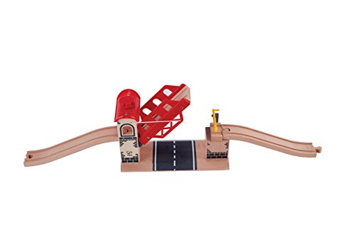 Hape Wooden Railway Lifting Bridge for Train Sets (Train Bridge)