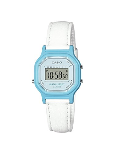 Casio Women's 'Classic' Quartz Resin Casual Watch, Color:White (Model: LA-11WL-2ACF)