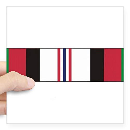 Campaign Accent - CafePress 2 Afghan Campaign Ribbon Huge Sticker Square Bumper Sticker Car Decal, 3
