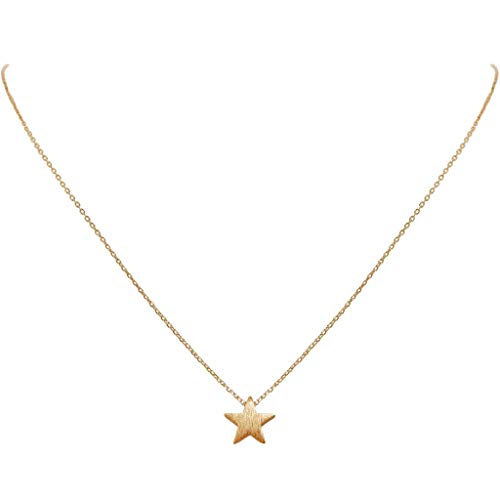 Humble Chic Tiny Star Necklace - Simple Minimalist Dainty Floating Small Charm Pendant for Women