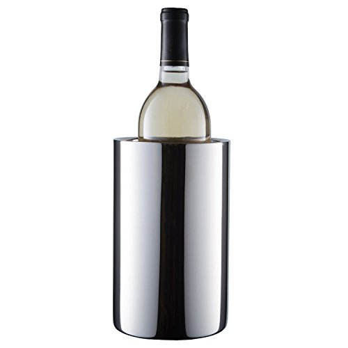 Insulated Wine Cooler Bucket, Keep Wine Cold in this Double Wall Wine Chiller. Durable and Elegant Stainless Steel Wine Accessories by Enoluxe