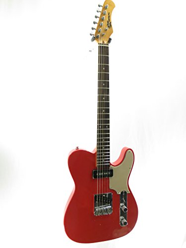 Deluxe Telecaster Electric Guitar (Effin Guitars OldSmelly/FR Vintage Fiesta Red Finish Deluxe Electric Guitar)