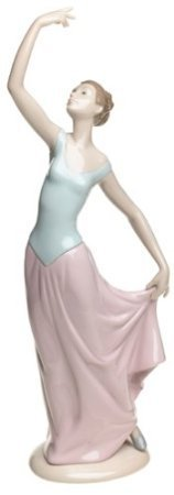 Nao by Lladro Collectible Porcelain Figurine: THE DANCE IS OVER - 14'' tall - Elegant Ballerina by Lladro