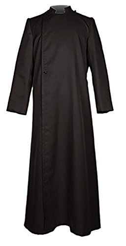 Ivyrobes Unisex Adults Black Pulpit(Clergy) Cassock (Pulpit Robe)