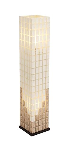 Deco 79 52220 Metal Capiz Tower Flower lamp 40'' H by Deco 79