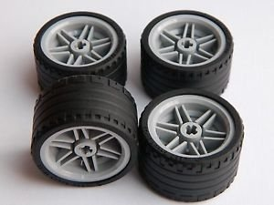 Price comparison product image LEGO 8pc Technic Wheel and Tire SET (Mindstorms nxt ev3 tyre) 55978 56145
