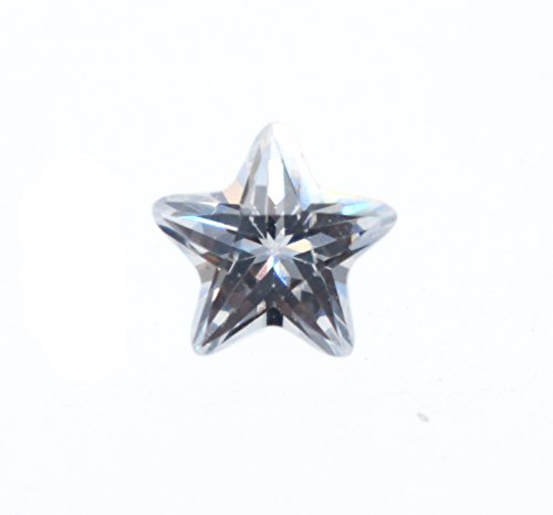 Alone Moon Automatic machine cutting resplendent grade cubic zirconia Star-shaped cut loose Gemstones 200pcs(3x3mm, White)