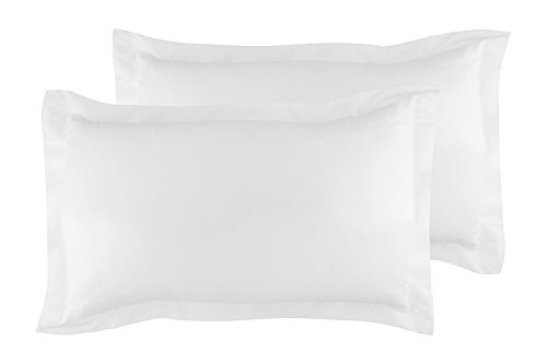 (La Vie Moderne Premium 400 Thread Count Pure Cotton Pillow Shams | Set of 2 | King/White )