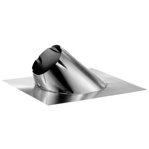 M & G Duravent 6DT-F6 6 Inch Dura Vent Duratech Flashing 0/12-6/12 Pitch Galvanized storm Collar Not Included