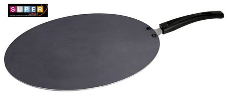 Super Classic 3mm Aluminium Non Stick Flat Tawa, 33 cm, Grey Color Tawas