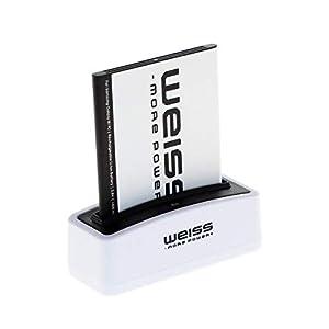 Weiss More Power - Batería para Samsung Galaxy S3 Mini GT-I8190 / Ace 2 (GT-I8160 / GT-I8160P) / S Duos (GT-S7562 / GT-S7560) (1500 mAh, Equivalente a EB425161LU / EBF1M7FLU / EB-B130BE) 4