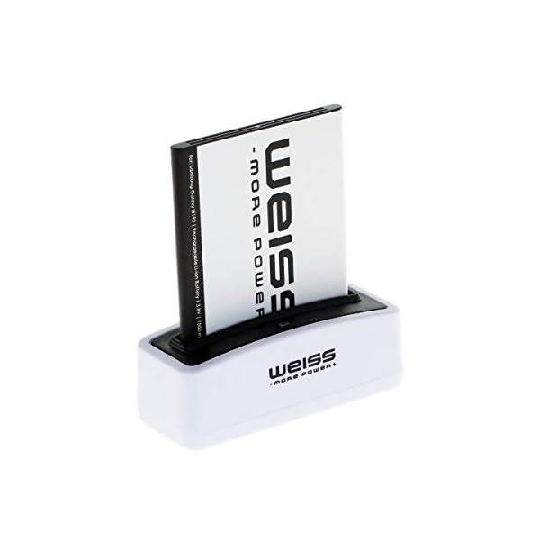 Weiss More Power - Batería para Samsung Galaxy S3 Mini GT-I8190 / Ace 2 (GT-I8160 / GT-I8160P) / S Duos (GT-S7562 / GT-S7560) (1500 mAh, Equivalente a EB425161LU / EBF1M7FLU / EB-B130BE) 1