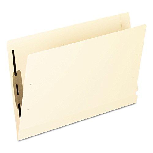 Legal 11 Pt 1 Ply - Pendaflex 13210 Laminated Spine End Tab Folder with 1 Fastener, 11 pt Manila, Legal, 50/Box