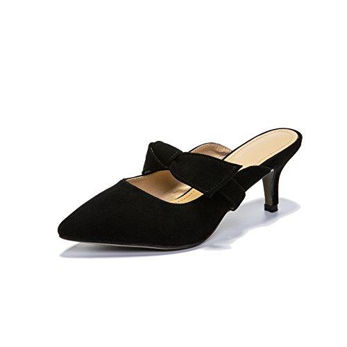BalaMasa Womens Sandals Closed-Toe No-Closure Huarache Urethane Sandals ASL04413 Black